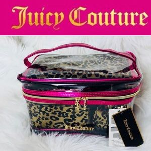 💗JUICY COUTURE Pink/Leopard Cosmetic Bag/Case-NWT